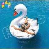 Раздувные игрушки плавая кольцо заплывания лебедя единорога поплавка бассеина белое