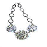 Collar de acrílico de cristal de la pulsera del pendiente de la joyería de la manera de las piedras del nuevo item