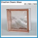 145 *145*80mm Clear o Colored Glass Ostruiscono-Glass Brick per Wall