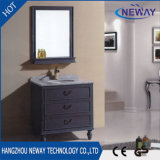Fabbrica antica diritta della mobilia della stanza da bagno di legno solido del pavimento direttamente