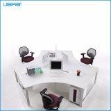 Stazione di lavoro trasversale della scrivania del personale di figura di MFC di alta qualità moderna di Uispair