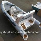Iate inflável do barco do reforço da casca da fibra de vidro do iate do luxo de Liya 6.6m