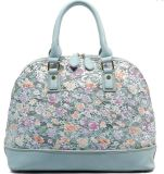 Form-Dame-Handtaschen-schöne Blumenhandtaschen sechs Farben überziehen Handtaschen mit Leder