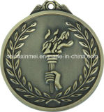 medaille van de Reeks van het Brons van de Toorts van 7cm de Gouden Zilveren