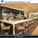 Moderna de gama alta comercial de iluminación LED en forma de L restaurante Barra