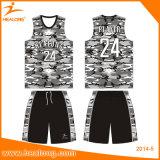 Healong熱い販売法の昇華バスケットボールジャージー