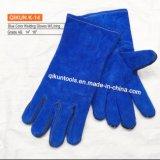 Перчатки заварки голубой коровы цвета K-14 кожаный