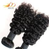 カンボジアのバージンの毛のよこ糸を編むジェリーのカール8Aの高品質の人間の毛髪