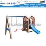 子供のプラスチックおもちゃのスライドおよび振動セットの演劇装置(HC-16512)