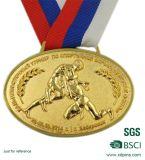 Het aangepaste Goud Geplateerde Medaillon van het Metaal voor Sport