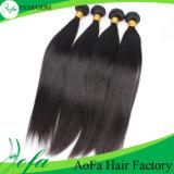 Do cabelo humano de Remy do cabelo do Virgin de Aofa Hairpieces retos de seda