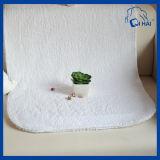 純粋で白い綿の床タオル(QHA558)