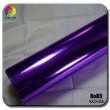 Envoltórios elevados da película do cromo do espelho de Strechable da venda quente roxa de Tsautop