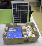 Casa del sistema di energia solare con la radio di FM ed il USB