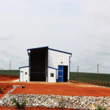 Het moderne Pakhuis van de Structuur van het Staal in Zuid-Afrika