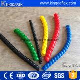 Protezione a spirale di plastica variopinta della protezione del tubo flessibile per il tubo flessibile ed il cavo idraulici