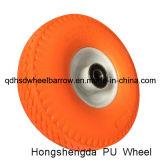 10 인치 외바퀴 손수레를 위한 편평한 자유로운 거품 PU 바퀴 3.50-4