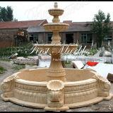Fontana di pietra di marmo Mf-768 dell'oro del deserto della fontana del granito