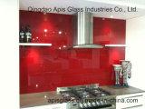 台所しぶき版の装飾ガラスのための10mmのシルクスクリーンの印刷ガラス着色された