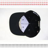 sombreros del Snapback del bordado 3D con el borde de cuero