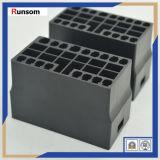 Trabajo negro de aluminio del CNC de la aduana del caso