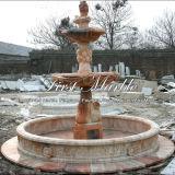 Fontana di pietra rossa di tramonto per la decorazione domestica Mf-223