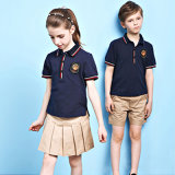 Поло Shirt&Shorts Unifrom высокого качества и конструкция начальной школы юбки равномерная