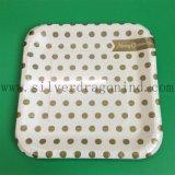 Плита белого картона квадратная бумажная с лоснистым слоением