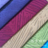 Tissu brûlé flexible superbe de velours côtelé de débit pour le textile à la maison