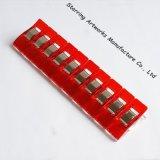 27mm 플라스틱 기술 경이 꿰매는 누비질을%s 진동하는 빨간색 클립