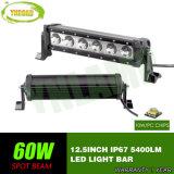 60W LEIDENE 12.5inch Lichte Staaf met CREE LEDs voor Offroad SUV