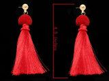 新しいデザイン優雅で長い糸の方法はふさのイヤリングをぶら下げる