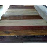 Revestimento de madeira projetado da noz preta natural