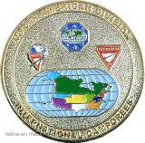 Muntstuk van het Email van de V.S. van de Uitdaging van het Metaal van de douane het Matrijs Gegoten