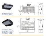 Paquetes al aire libre de la pared de la UL Dlc IP65 80W LED con 5 años de garantía