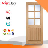 Porte en verre de pièce intérieure avec le panneau de visibilité plus de décoration