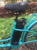 bicicleta eléctrica de la ciudad 26inch con la batería delantera del centro de la cesta