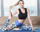 2017 de Broek van de Vrouwen van de Sporten van de Yoga van de Beenkappen van de Druk van de pauw
