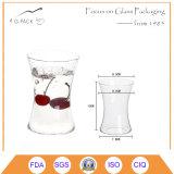 Tazza calda dell'acqua di vetro di silice di vendita