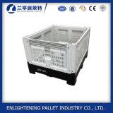 pálete de caixa plástica cinzenta dobrável usada 100%HDPE