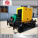 bomba de água 12inch Diesel para o controle de inundação com o reboque em África do Sul