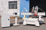 CNC Router con Boring Units (7+2+2, perforación vertical bit-7PCS, resbalador cutter-2PCS, saw-2PCS), Xe1325/1530/2030