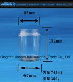 Runde transparente Kerze-Halter-Glasflasche für Dekoration