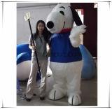 Costume Snoopy della mascotte del cane della peluche lunga eccellente di qualità