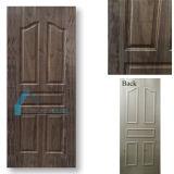 自然で暗いクルミの木製のベニヤによって形成される合板のドアの皮