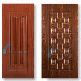 Прокатанная меламином кожа двери MDF с Veneer Corlor Teak