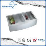 Fregadero de cocina artificial del cortijo del acero inoxidable (ACS3621A2Q)
