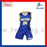 高品質のカスタマイズされたデザイン昇華バスケットボールのユニフォーム