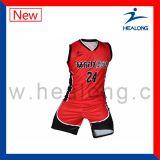 Uniforme personalizzata di pallacanestro di sublimazione di disegno con l'alta qualità