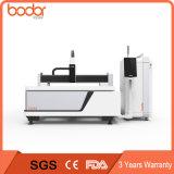 Tagliatrice 1530 della fibra dello strato e del metallo di CNC 500W, controllo di macchina del laser della fibra per metallo
